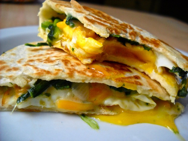 eaten egg florentine quesadilla