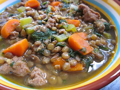 lentil & sausage stew