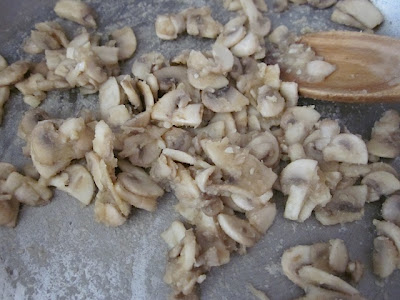 roux covered mushrooms