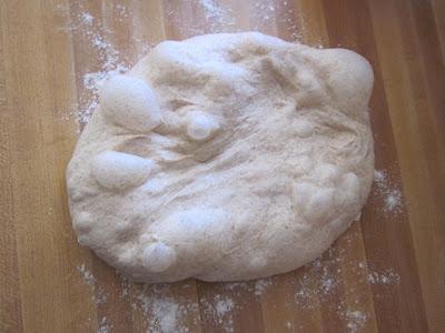 fluffy baguette dough