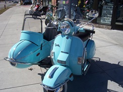 Baby blue scooter