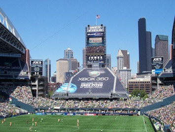 Seattle skyline from Qwest Field