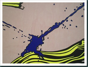 Brushstroke with Spatter by Roy Lichtenstein