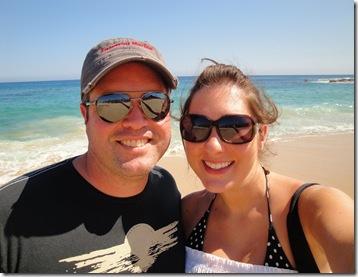 6.  Lorin and Logan on beach