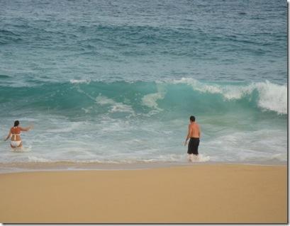 1.  Chris and Lorin in ocean