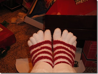 7.  Toe socks