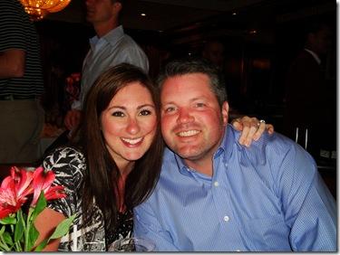 70.  Logan and Lorin at dinner