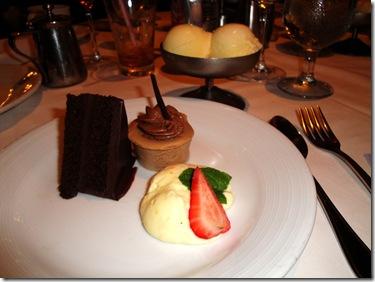 71.  Dessert trio
