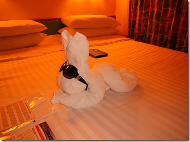 73.  Towel rabbitt