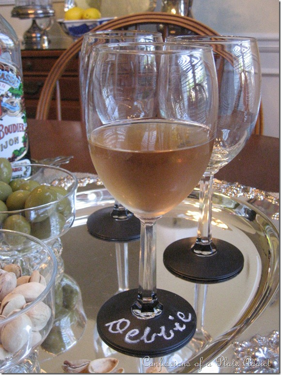 Confessions of a Plate Addict's Chalkboard Wine Glasses