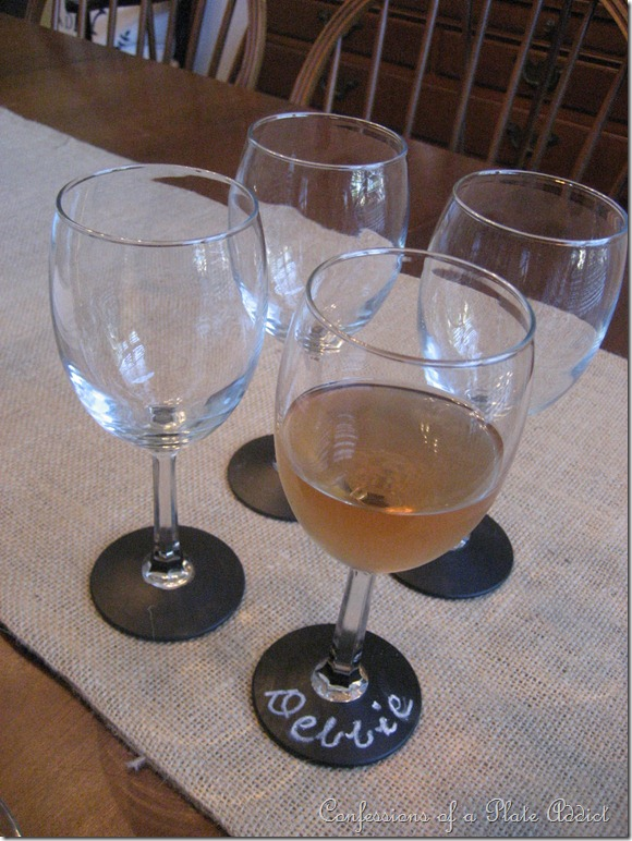 How To Decorate Wine Glasses With Chalkboard Paint