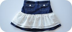 Thumbnail image for Tutorial ~ Denim And Eyelet Skirt