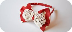 Thumbnail image for Tutorial ~ Minnie Mouse Bow With A Doily On Top