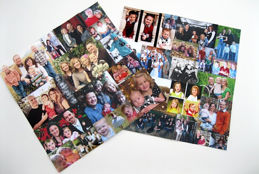 Photo Collages Made From Christmas Cards