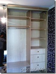 пример наполнения шкафа купе с задней стенкой