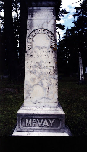 The grave of Alexander and Elizabeth MacVay