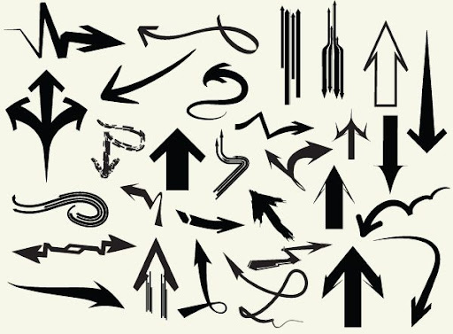 Increible Coleccion de Flechas182 Figuras Vectoriales  182