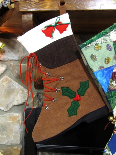 hiking boot christmas stocking
