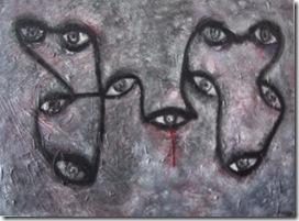 Olhar de olhares 70x100 cm - Tela de Teresa Robal