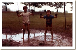 daniel and craig in mud