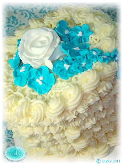 Buttercream Turquoise cake~