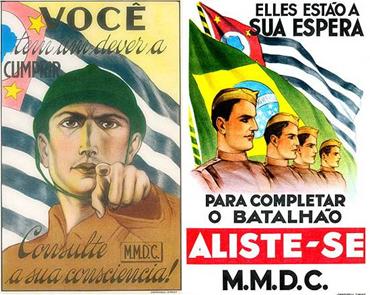 Cartaz convocando voluntários para a revolução de 1932. Fonte: Revista Mundo Ilustrado. Clique para ampliar