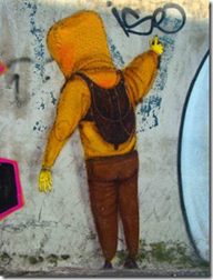 Grafite no bairro da Liberdade. Foto: Gladstone Barreto. Clique para ampliar
