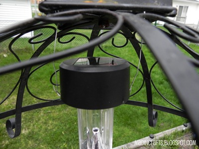 hanging dollar store solar light