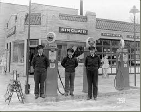 50s gas station