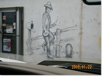 wall art on the store front