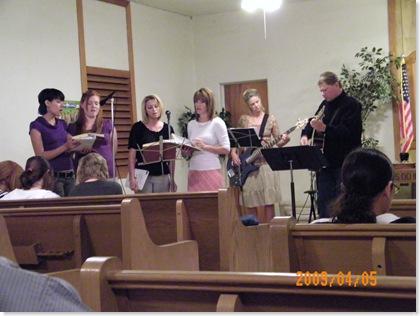 Picacho Baptist Church worship team