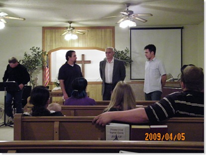 Pastor Jeremy Gee, Don and Youth Pastor Jared Carter