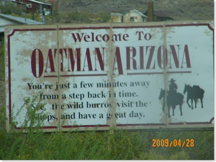 Historic US 66 to Oatman, AZ