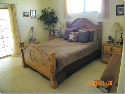 the Pruit master bedroom