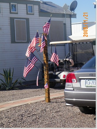 a lighted flag pole!