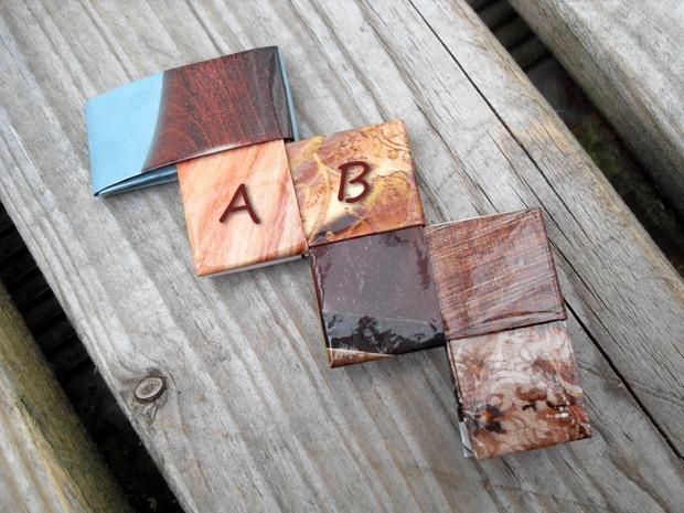 A- og B-siderne flettet til starten på en taske
