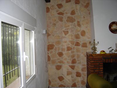 Imitaci n piedra pintura y decoraci n bautista - Decoracion imitacion piedra ...