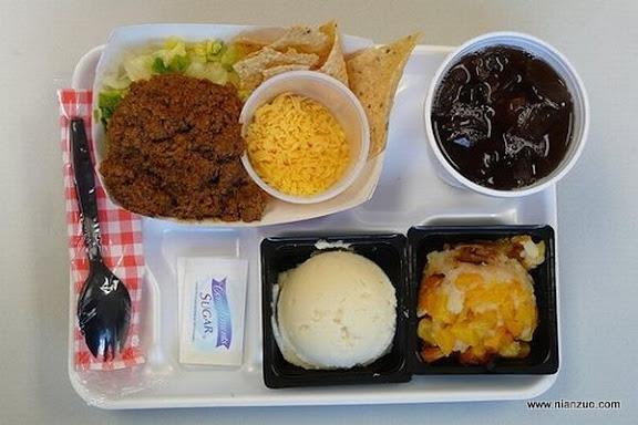 世界各国的校餐 美国:什么东西?