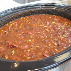 Spicy Black Bean & Chorizo Chili