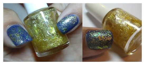 Flocado Celofane e Glitter Ouro