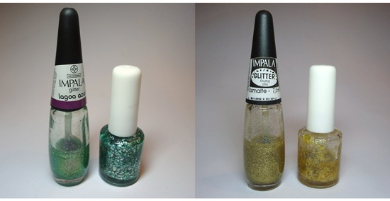 Esmalte Flocado - Antes e Depois