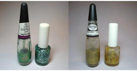 Esmalte Flocado - Antes e Depois
