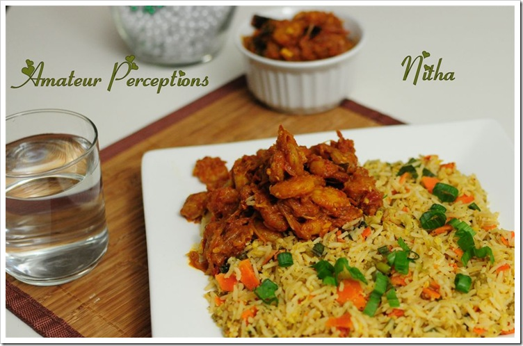 Fried Rice - Goan Shrimp Balchao 1
