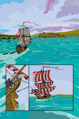 1754. Aujourdhui. Un navire étrange accoste à Québec.