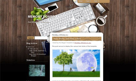 Memory Board blogger template