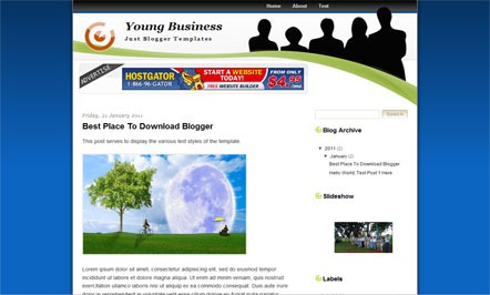 Young Business blogger template