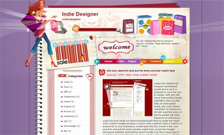 Indie-Designer-Blogger-Template