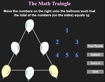 The Math Triangle Game