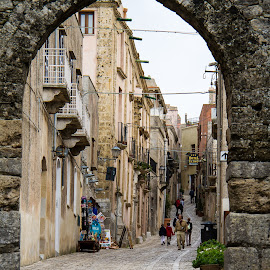 Old Street by Glenn Forrest - Buildings & Architecture Other Exteriors ( narrow, europe, street, ppedestrians, stone )