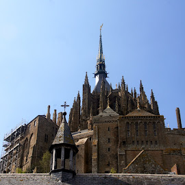 Mont Saint Michel 2 by Anita Berghoef - Buildings & Architecture Public & Historical ( steeples, building, ancient, steeple, church, monastery, france, cathedral, architecure, mont saint michel )
